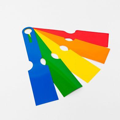 Netidentificatielabels volledig gekleurd